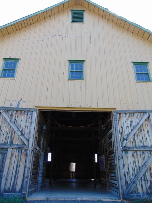 Ground level of barn