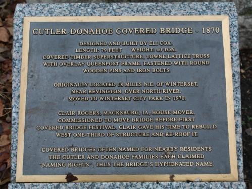 Cutler-Donahoe Covered Bridge info
