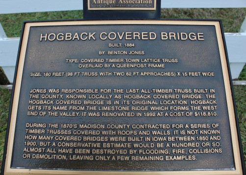 Hogback covered bridge info