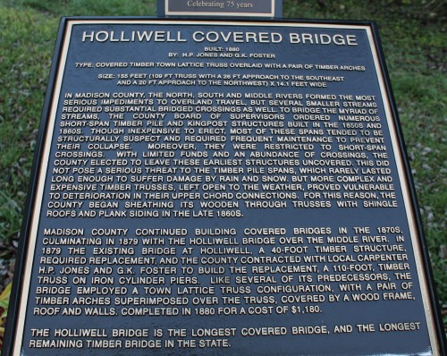 Holliwell Covered Bridge info
