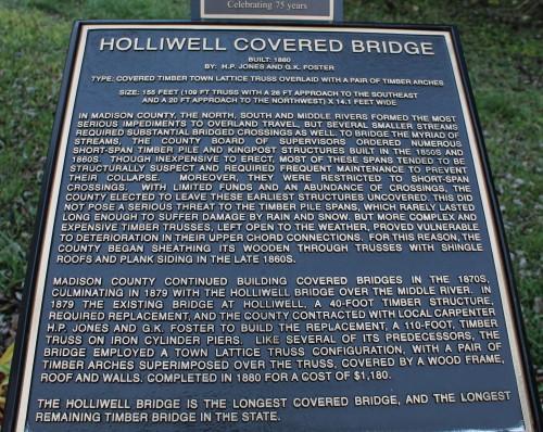 Holliwell Covered Bridge info