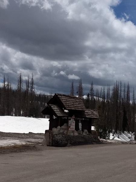 Wolf Creek Pass sign